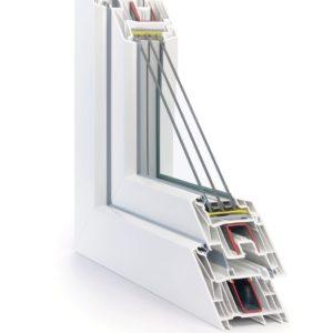 Sezione finestra pvc